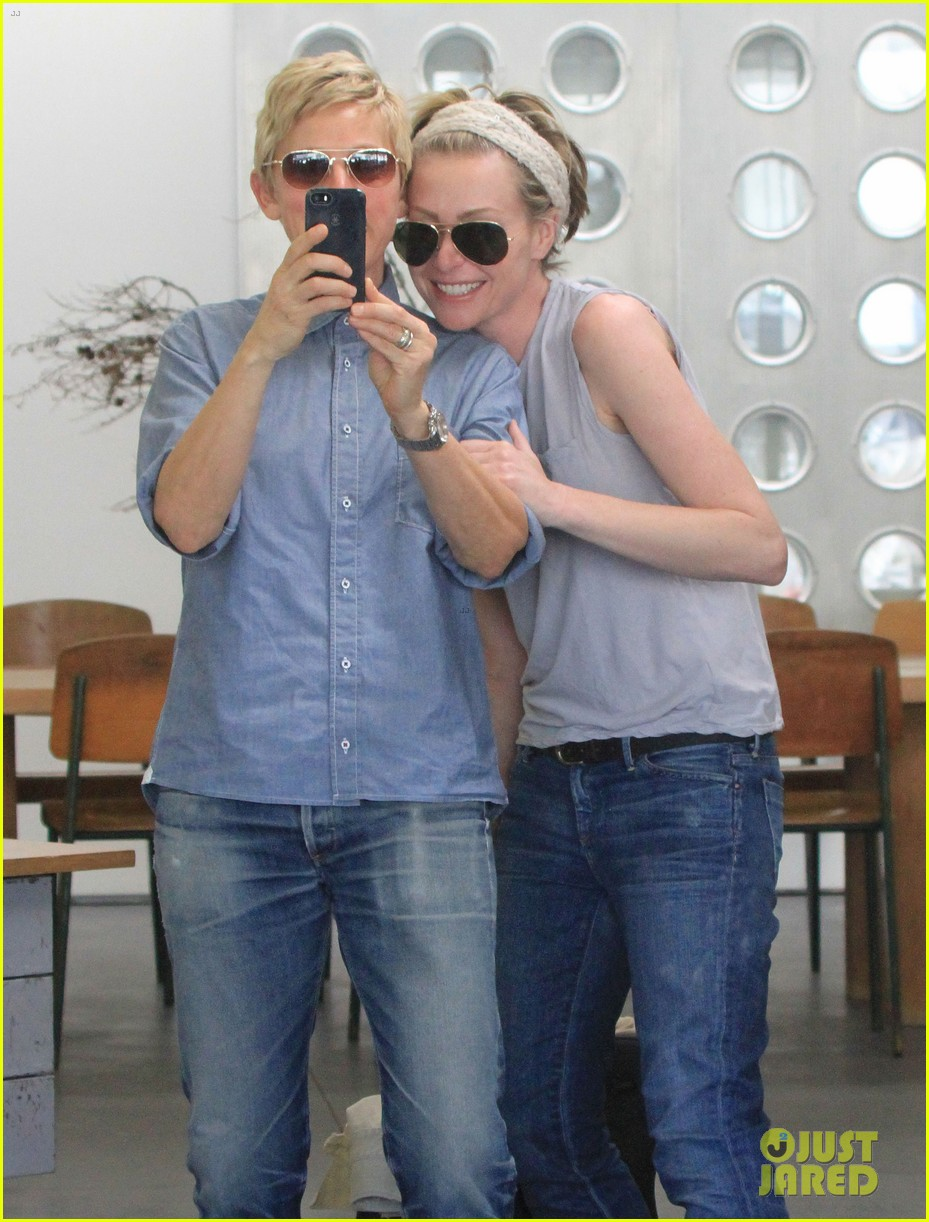 ellen degeneres portia de rossi were the cutest couple on valentines day 04