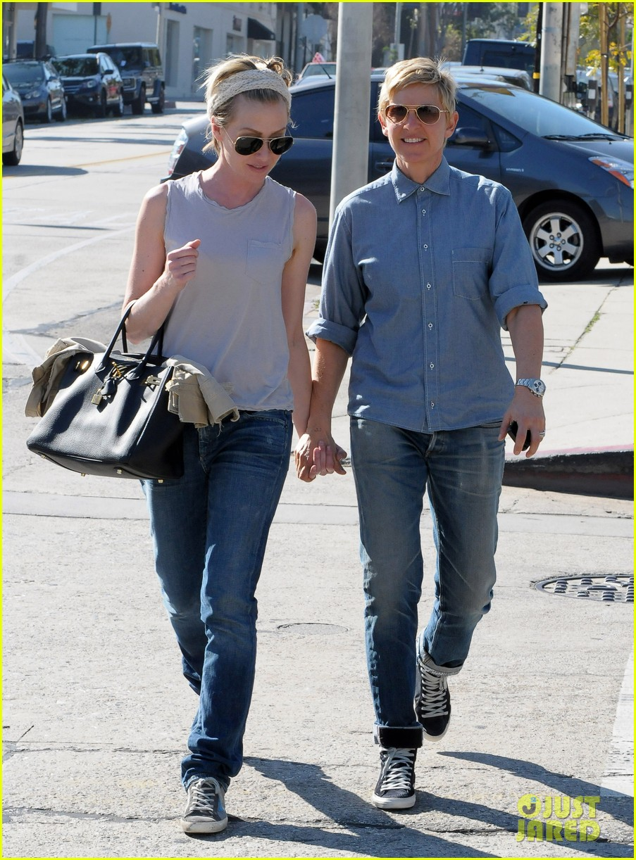 ellen degeneres portia de rossi were the cutest couple on valentines day 113054326