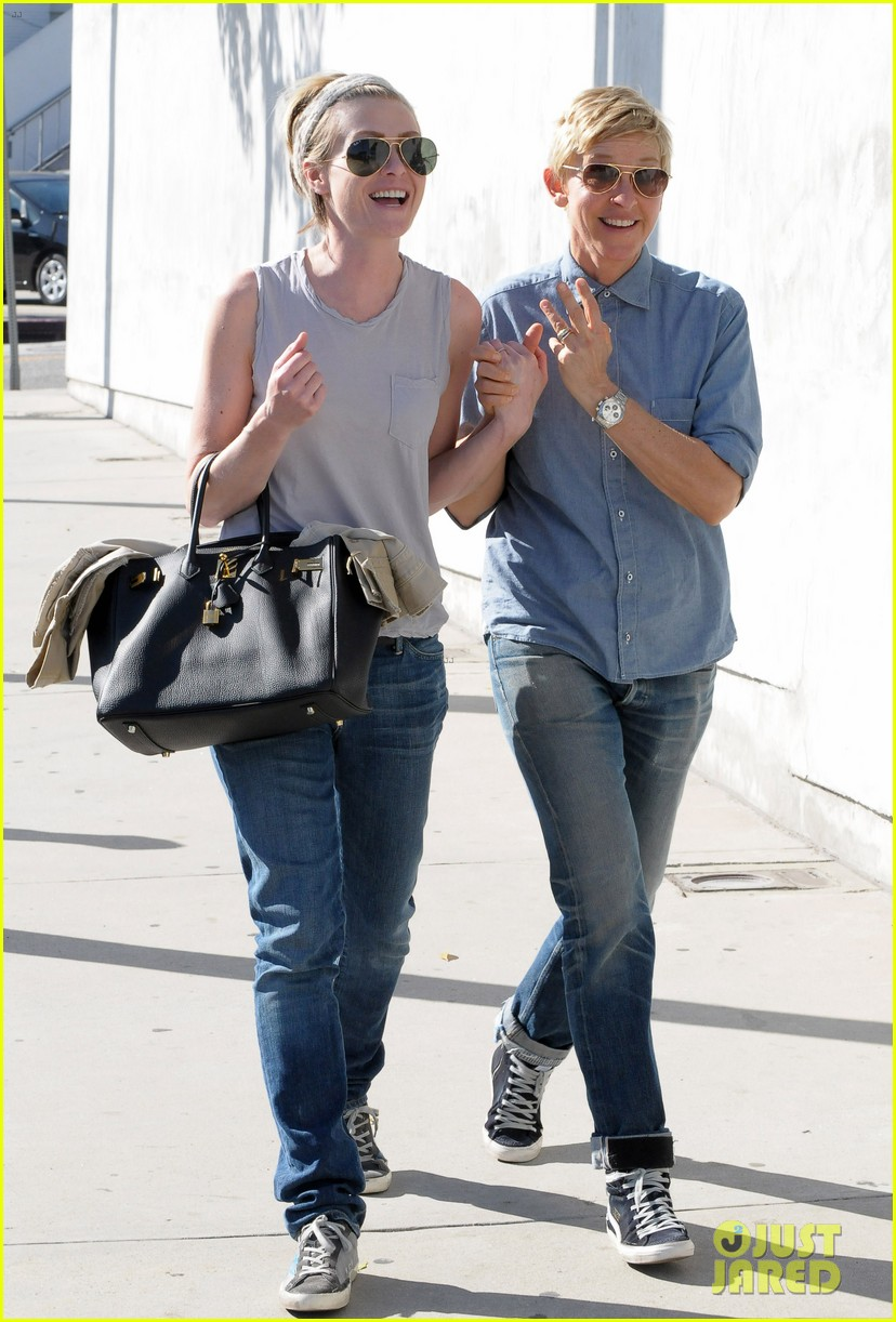 ellen degeneres portia de rossi were the cutest couple on valentines day 14