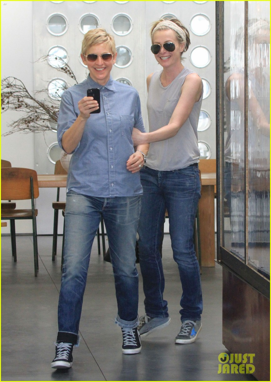 ellen degeneres portia de rossi were the cutest couple on valentines day 173054332