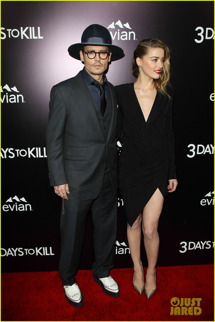 johnny depp supports amber heard at 3 days to kill premiere 01
