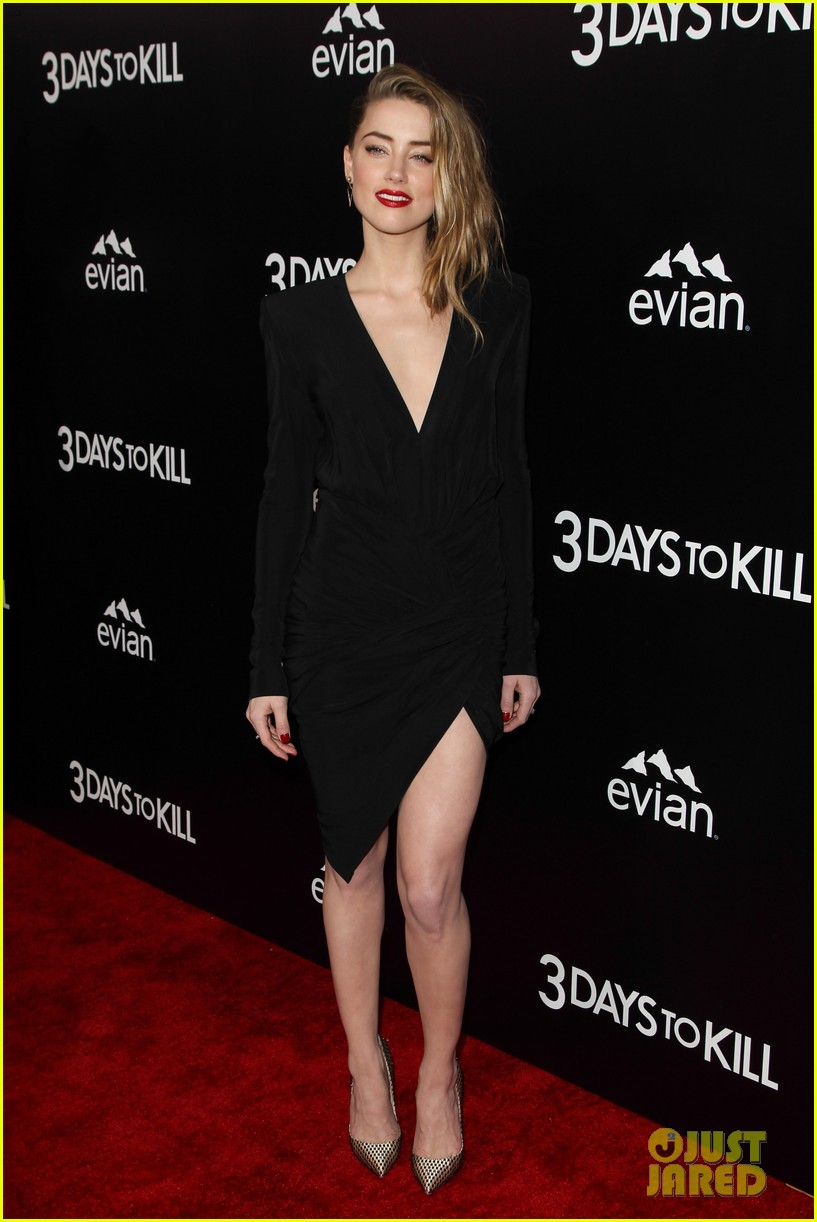 johnny depp supports amber heard at 3 days to kill premiere 16