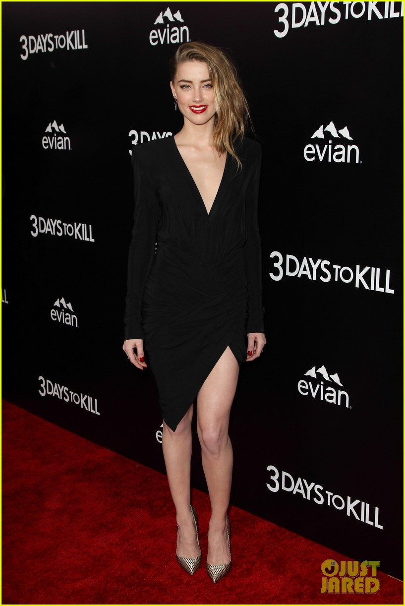 johnny depp supports amber heard at 3 days to kill premiere 17