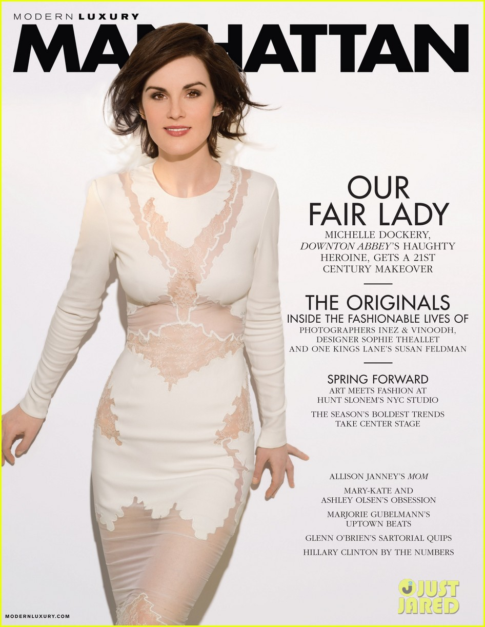 michelle dockery wears sexy white dress for manhattan magazine 013062442