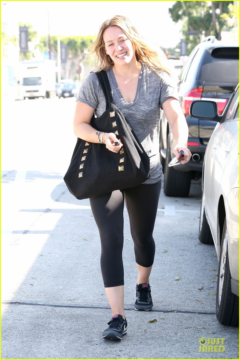 hilary duff fitness first following nyc trip 06
