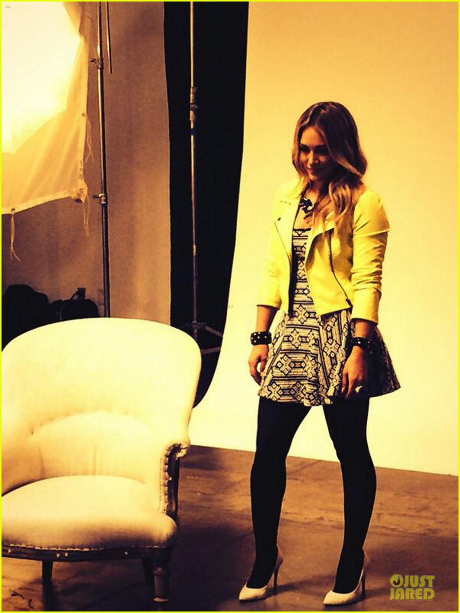 hilary duff rocks yellow for younger promo shoot 173060551