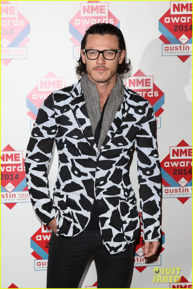 luke evans lily allen nme awards 2014 033061509