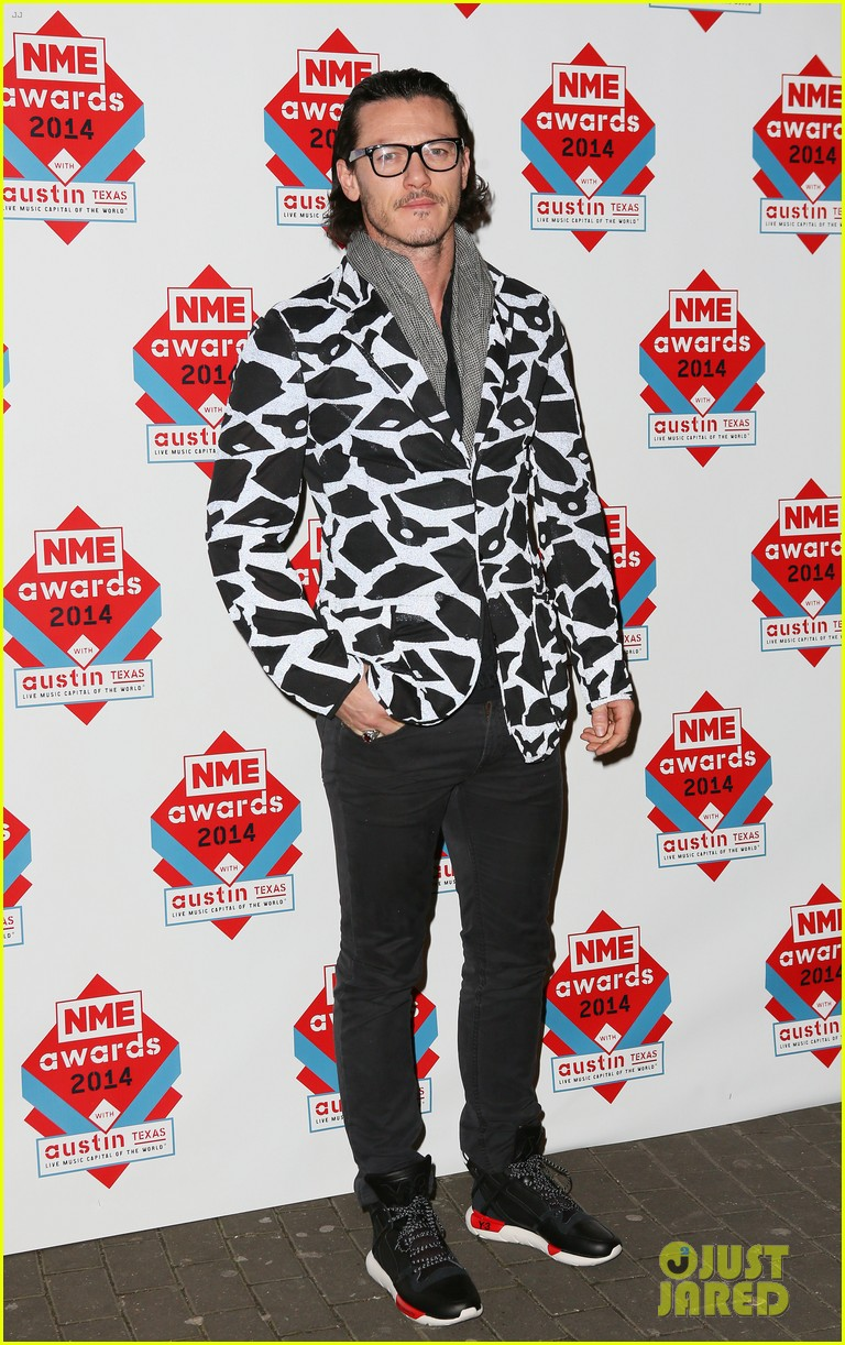luke evans lily allen nme awards 2014 05