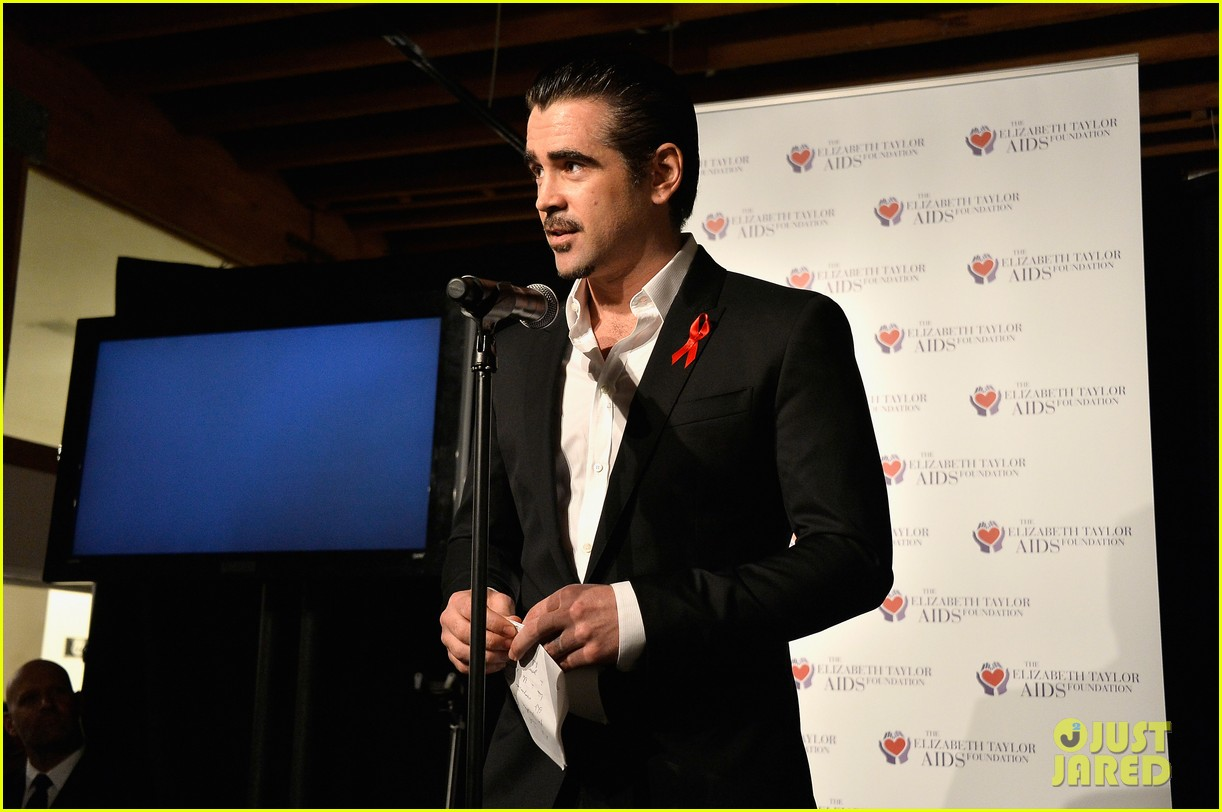 katharine mcphee colin farrell elizabeth taylor aids foundation art auction 08