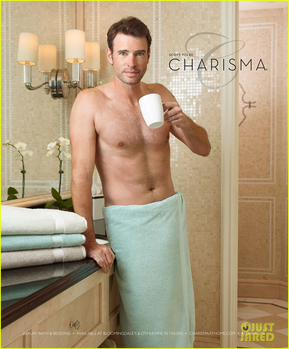 scott foley is super hunky goes shirtless in a towel for charisma 03