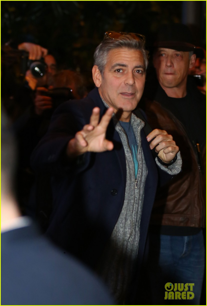 george clooney matt damon arrive in milan ahead of monuments men premiere 013050219