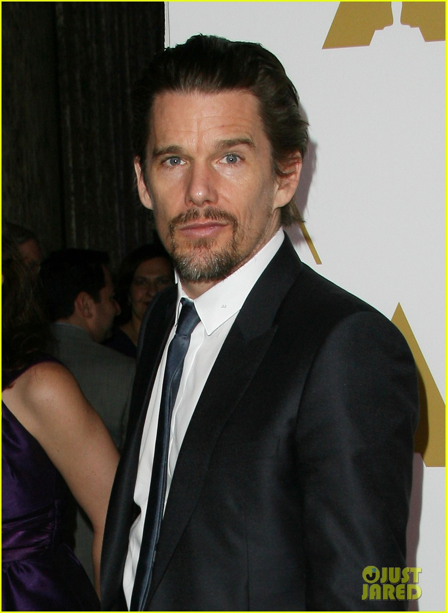 ethan hawke julie delpy oscars nominees luncheon 2014 11