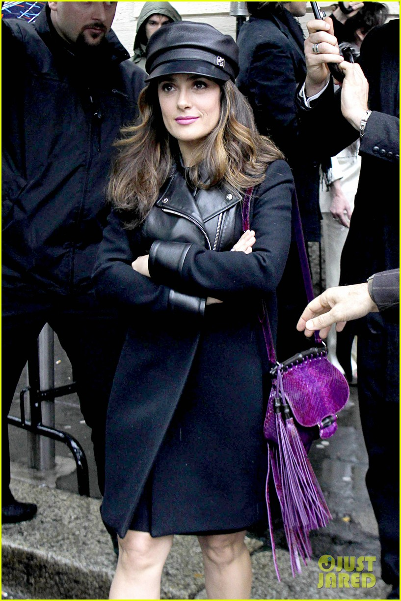 salma hayek gucci fashion show with francois henri pinault 083056649