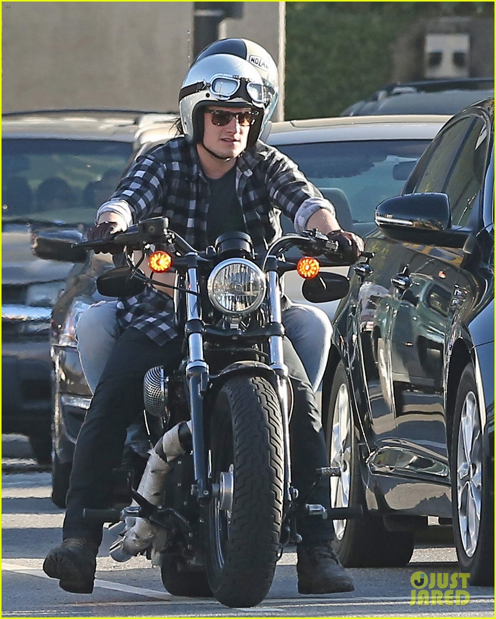 josh hutcherson goes for a motorcycle ride with a gal pal 04