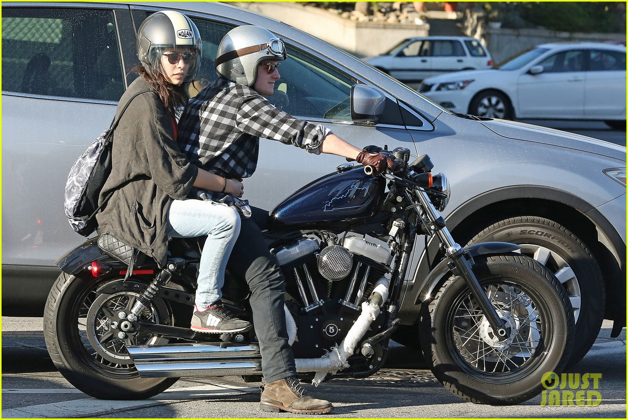 josh hutcherson goes for a motorcycle ride with a gal pal