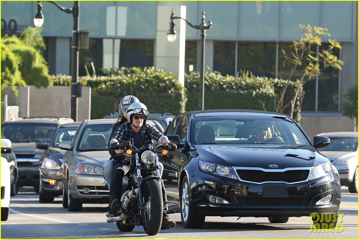 josh hutcherson goes for a motorcycle ride with a gal pal 13