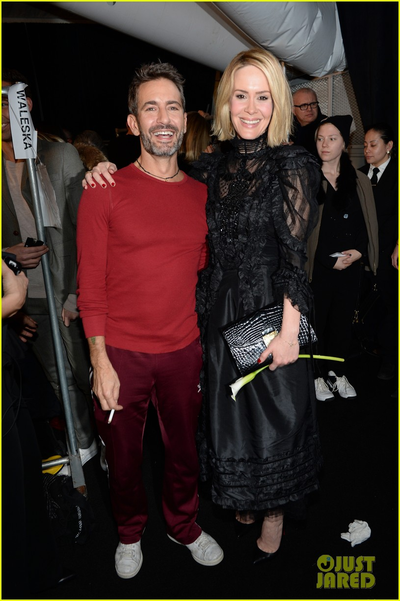 sarah paulson joe jonas end fashion week at marc jacobs 083053195