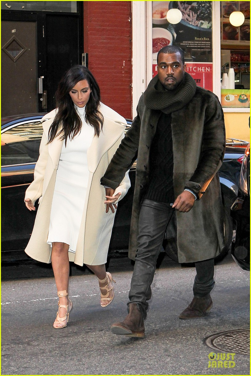 kim kardashian kanye west hold hands at abc kitchen 10