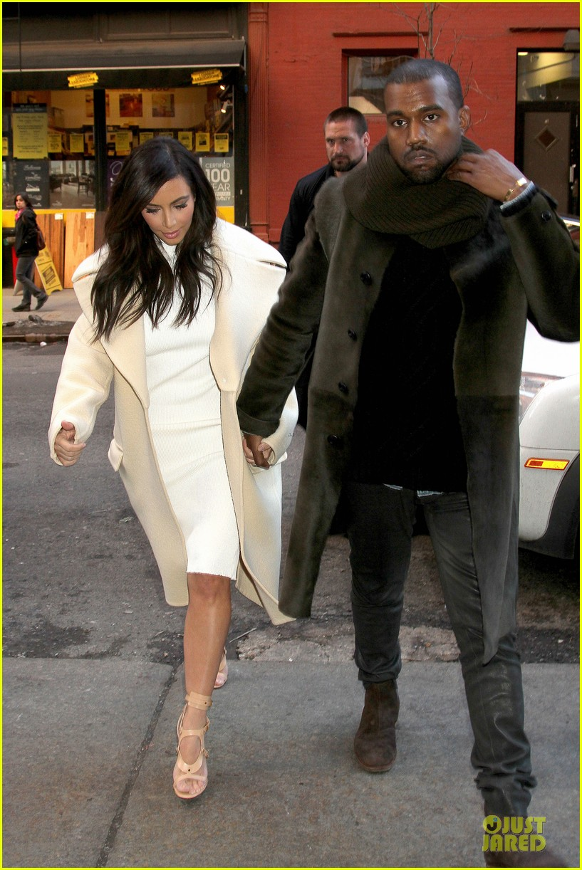 kim kardashian kanye west hold hands at abc kitchen 143058552