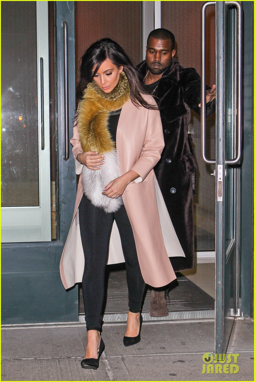 kim kardashian kanye west step out before new kuwtk episode 01