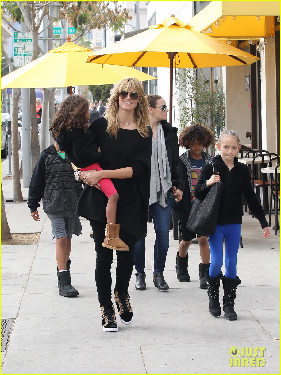 heidi klum sunday lunch with the kids 10