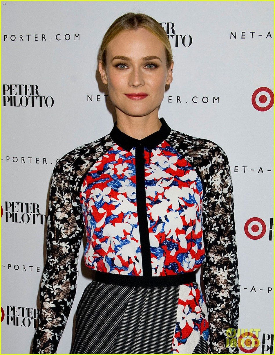 diane kruger rocks floral print at peter pilotto for target event 04