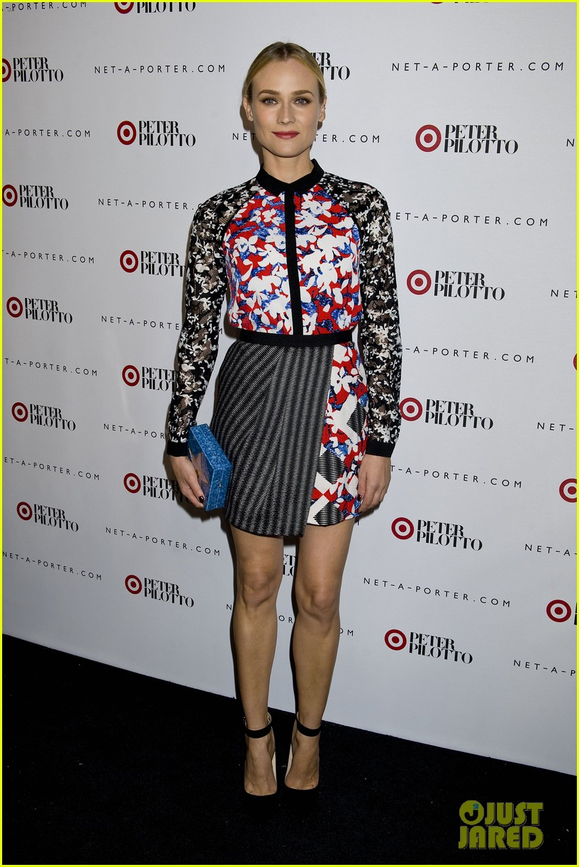 diane kruger rocks floral print at peter pilotto for target event 073048828