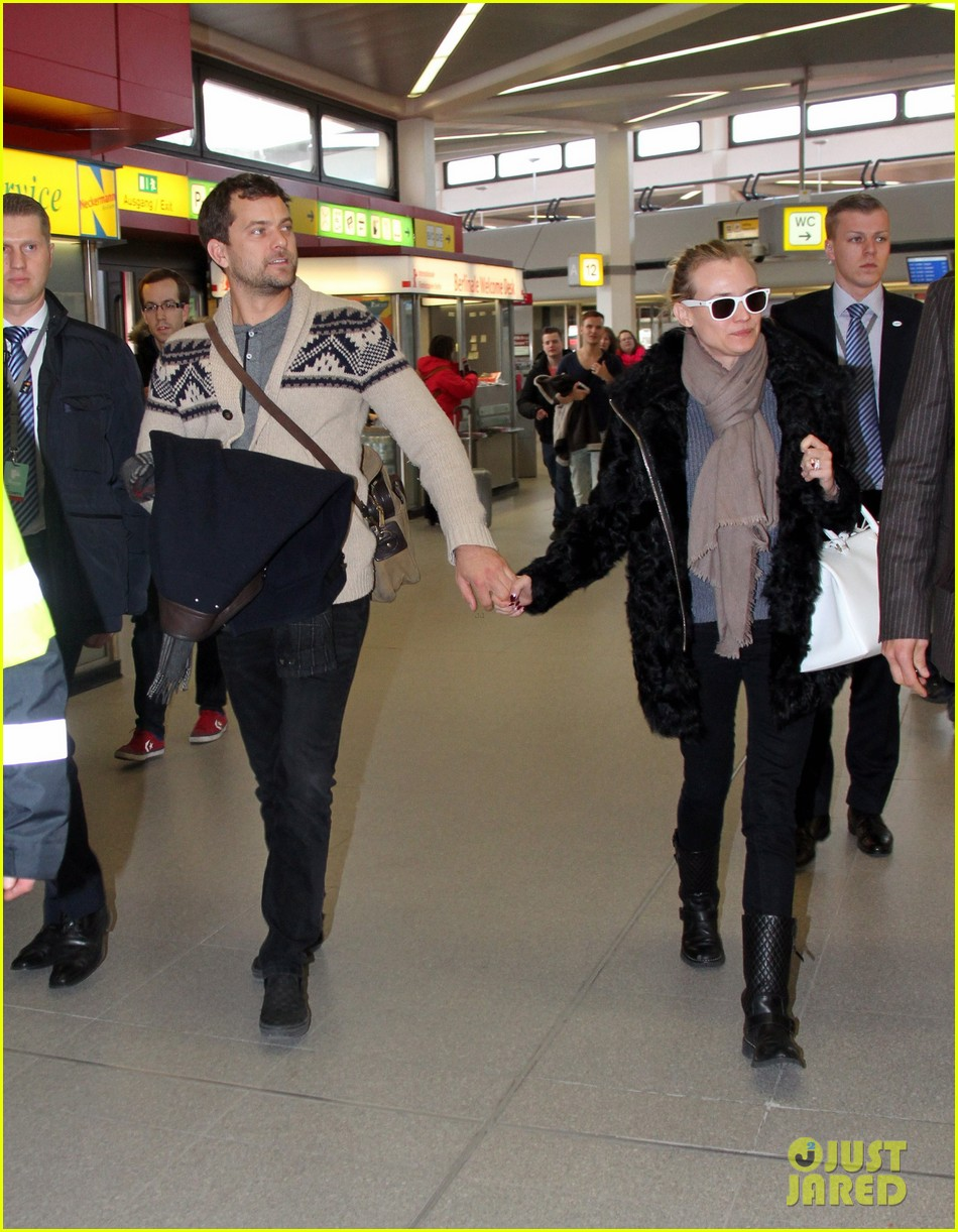 diane kruger joshua jackson share a smile while leaving berlin 083051375