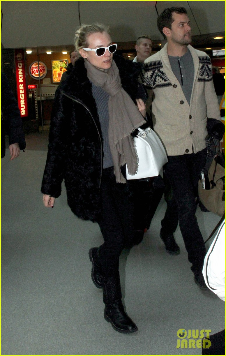 diane kruger joshua jackson share a smile while leaving berlin 09