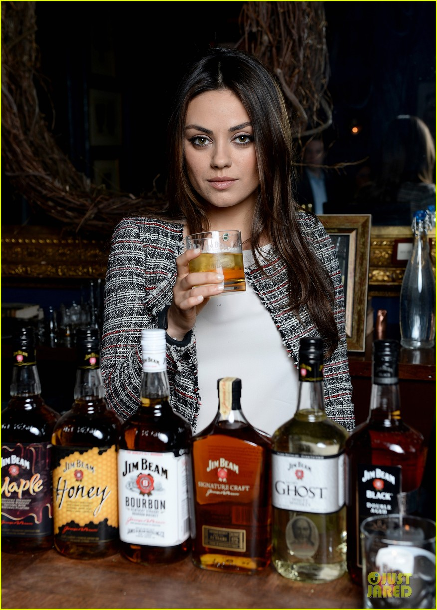 mila kunis debut jim beam bourbon ad watch now 01