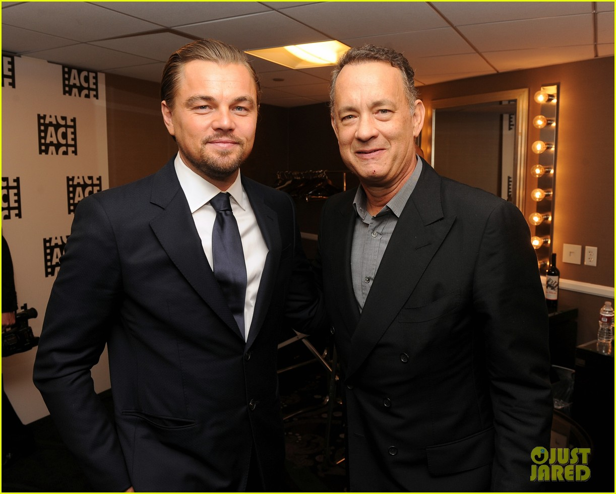 leonardo dicaprio ace eddie awards 2014 with tom hanks 043049576