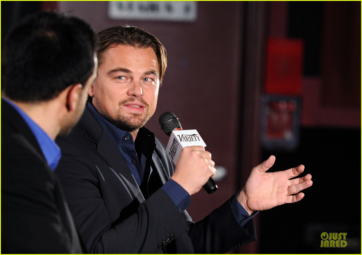 leonardo dicaprio promotes wolf of wall street at variety screening 103047723