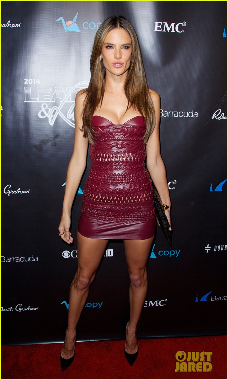 adriana lima alessandra ambrosio leather laces party 19