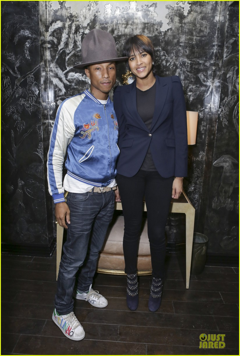 eva mendes pharrell williams elizabeth taylor tribute dinner 03
