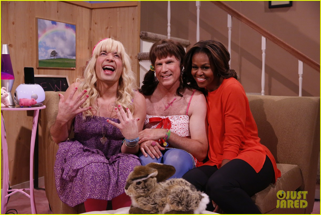 michelle obama ew sketch with jimmy fallon will ferrell 03