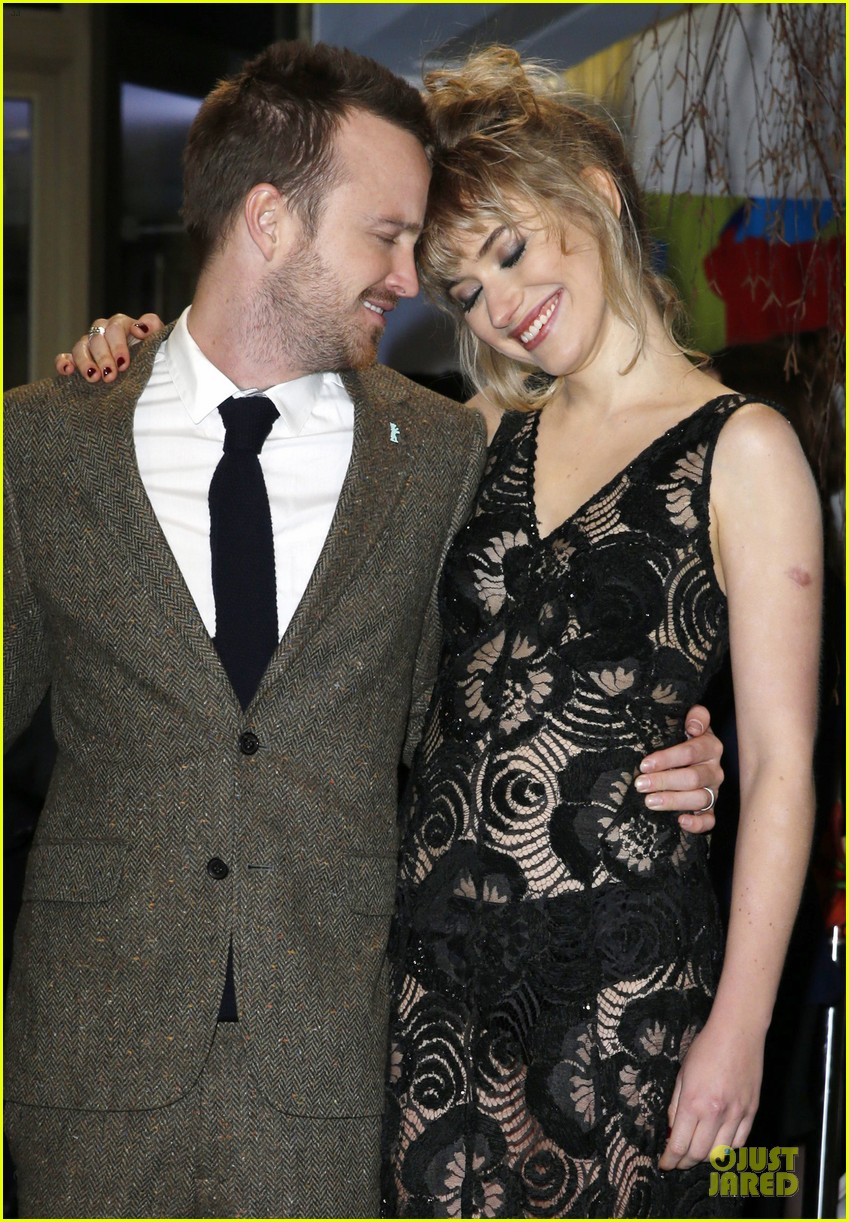 aaron paul imogen poots long way down berlin premiere 023050946