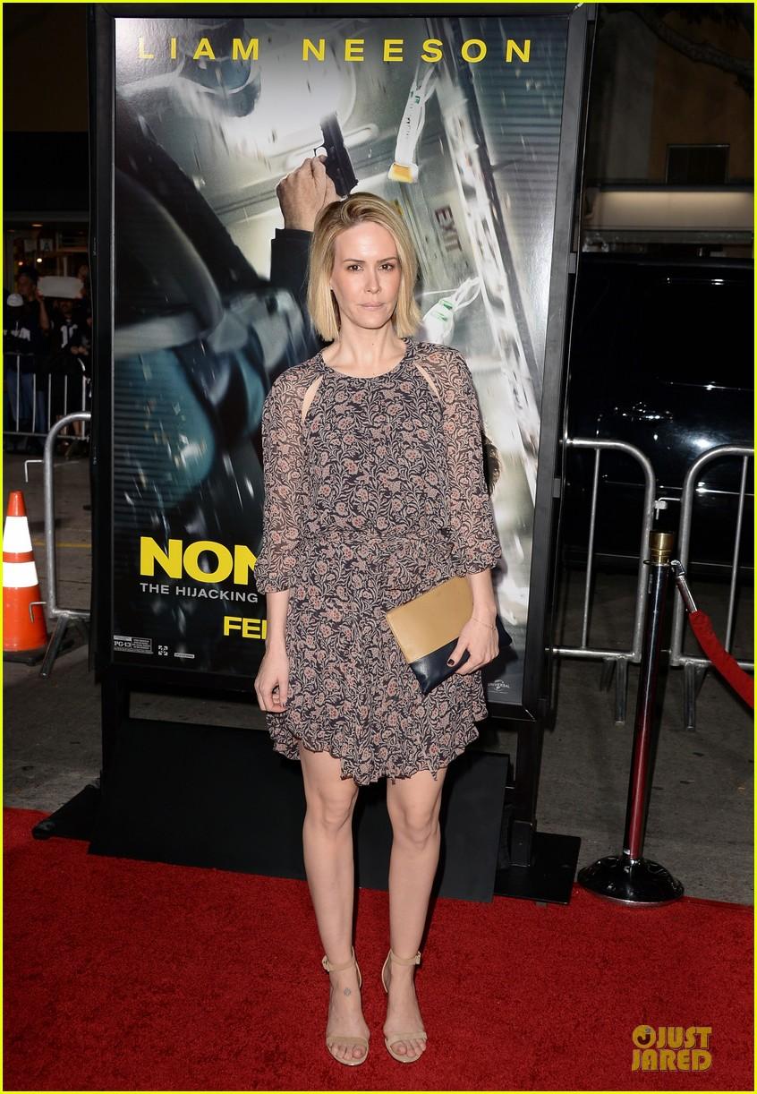 sarah paulson supports jason butler harner at non stop premiere 063060166