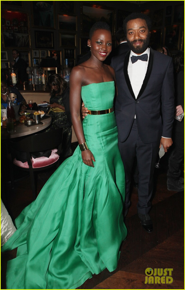 angelina jolie brad pitt baftas after party with lupita nyongo 083054931