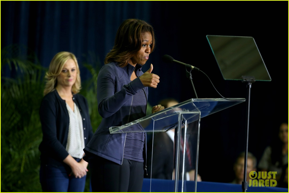 amy poehler michelle obama promote lets move initiative 103060939