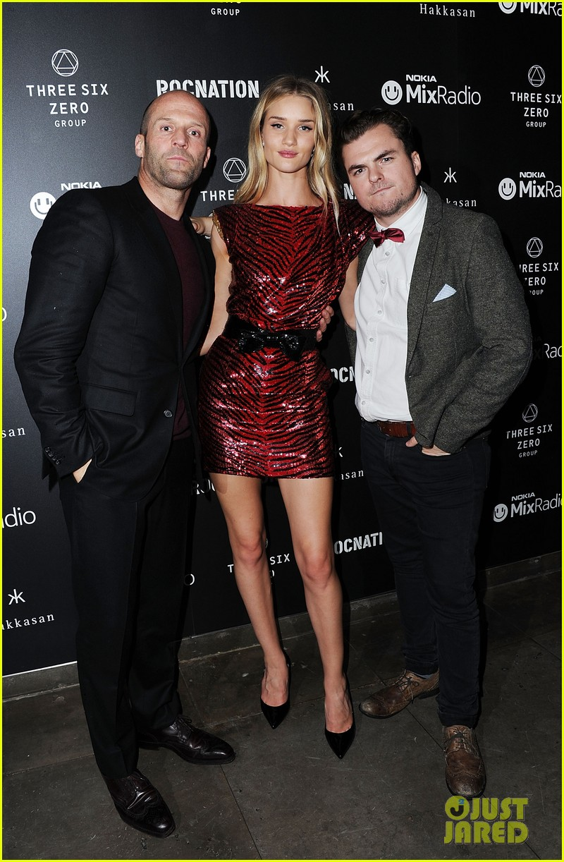 jason statham joins rosie huntington whiteley at brits party 09