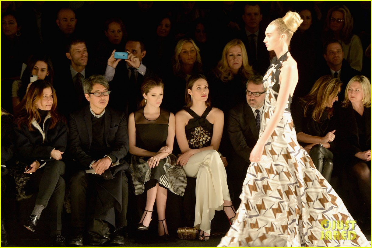 emmy rossum carolina herrera yigal azrouel nyfw shows 09