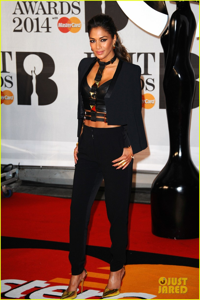 nicole scherzinger brit awards 2014 red carpet 023056310