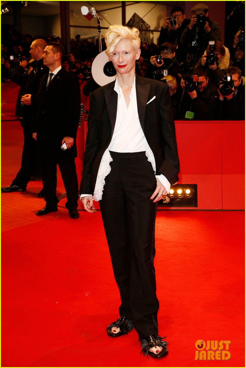 tilda swinton saoirse ronan grand budapest hotel premiere at berlinale 053048638