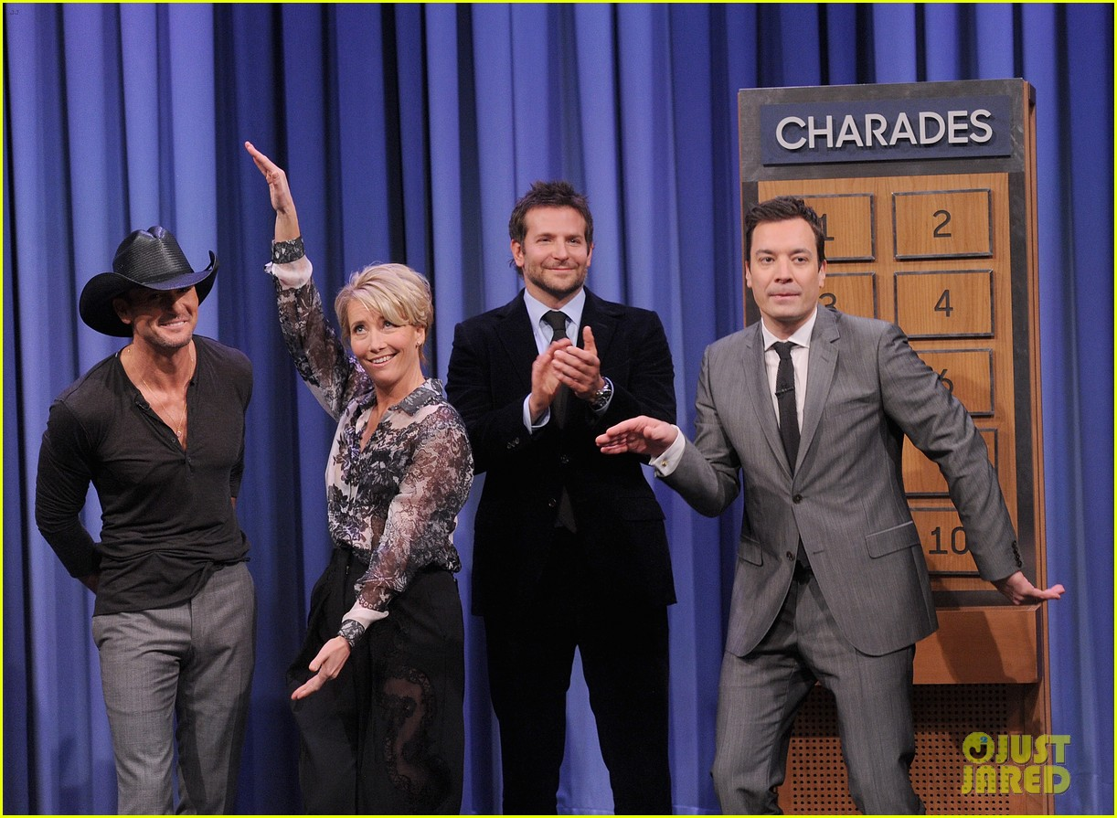 bradley cooper emma thompson play charades on fallon 203056624