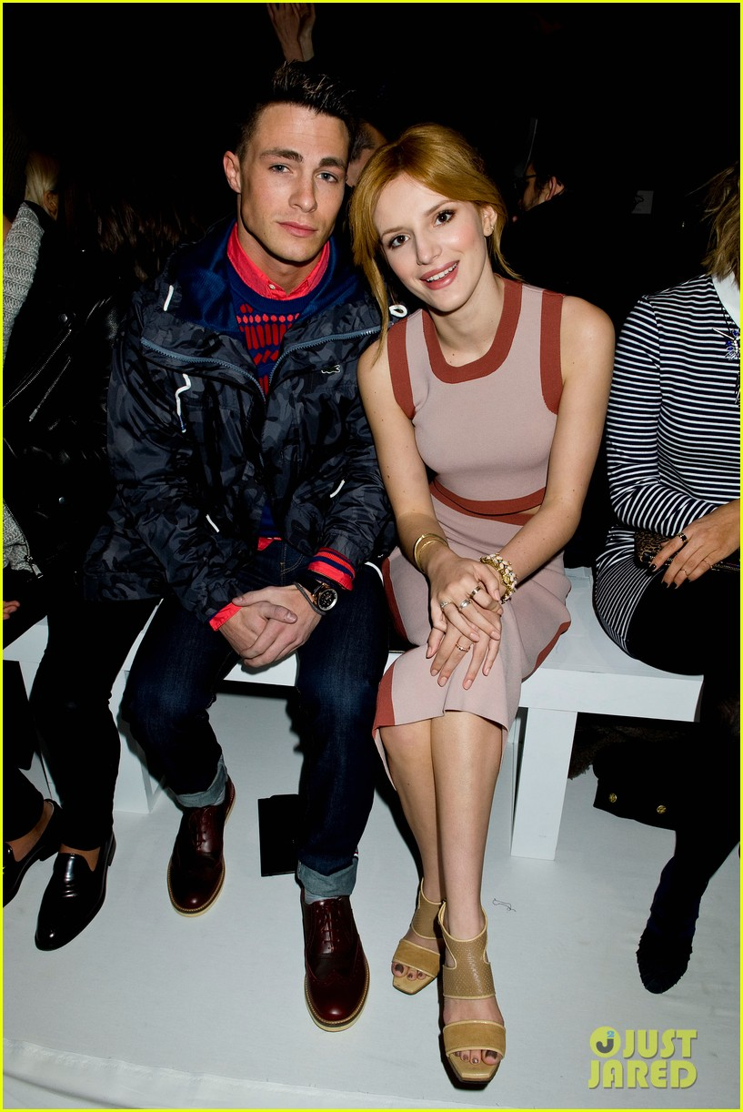 bella thorne colton haynes lacoste fashion show 02