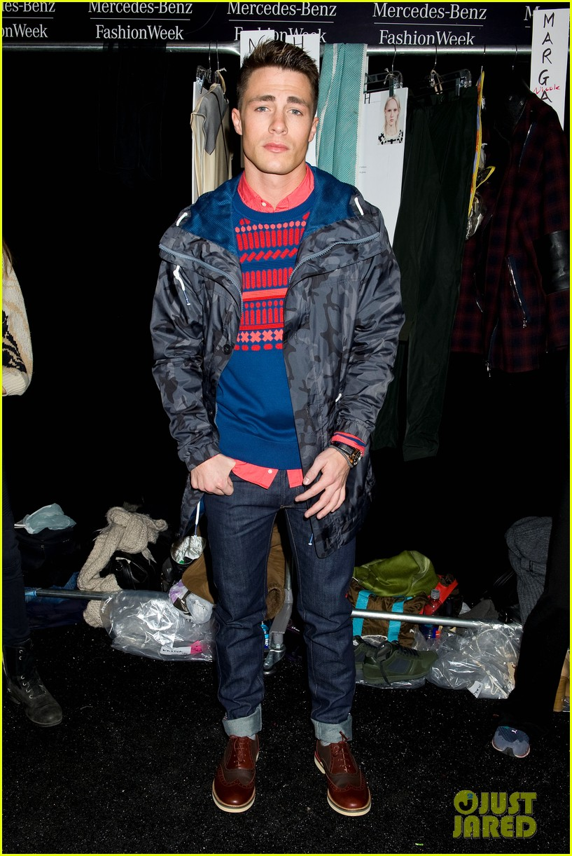 bella thorne colton haynes lacoste fashion show 08