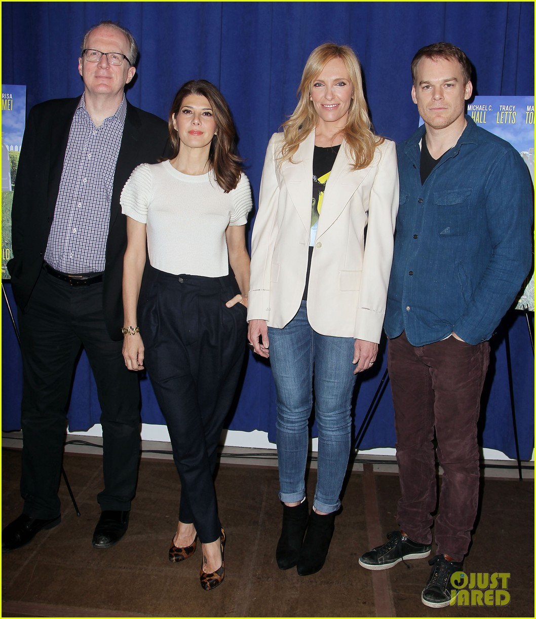 toni collette michael c hall realistic joneses photo call 223057190