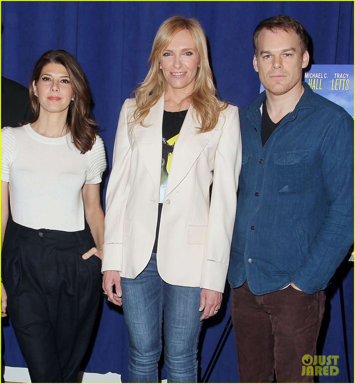 toni collette michael c hall realistic joneses photo call 233057191