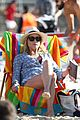sofia vergara rocks multi colored monokini for modern family filming 03