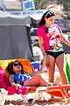 sofia vergara rocks multi colored monokini for modern family filming 04